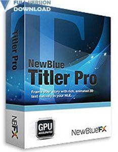 NewBlueFX Titler Pro v6.0.180719