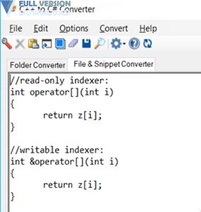 C++ to C# Converter Premium v18.6.17